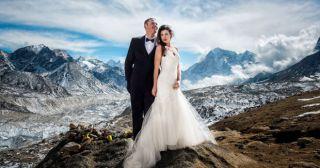 Прекрасная свадьба на вершине Эвереста – мечта, воплощенная в жизнь